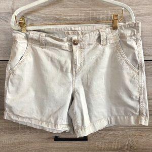 Maurices Khaki Shorts Size 14